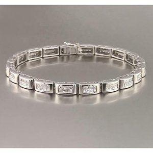 Jewelry - 8 Carat Princess Cut Sapphire Mens Tennis Bracelet